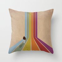 lonely Throw Pillows featuring Lonely by Whitney Retter