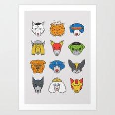 Super Dogs Art Print