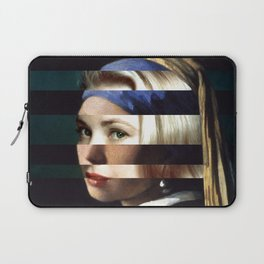 "Vermeer's ""Girl with a Pearl Earring"" & Grace Kelly Laptop Sleeve"
