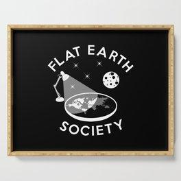 Flat earth society (explained) Serving Tray