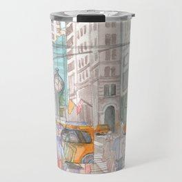 Reflection in the New York City windows II Travel Mug
