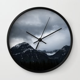 Mountains in Jasper Landscape Minimalism Photography Wall Clock