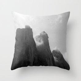 Three Peaks Throw Pillow