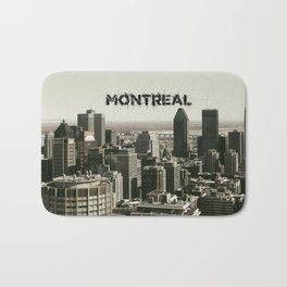 Montreal Canada Skyline with its Name Bath Mat