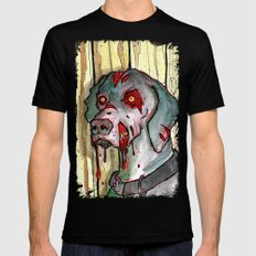 zombie dog Mens Fitted Tee Black X-LARGE