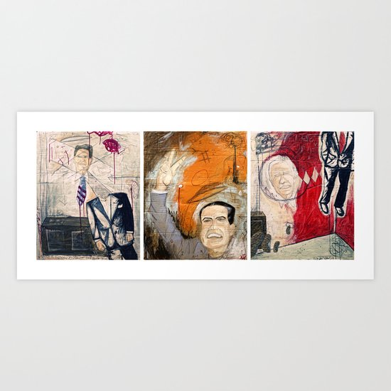 3 Leaders of the Free World Art Print