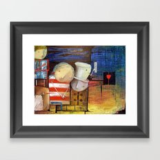 Waiting For The Voice Of The Heart Framed Art Print