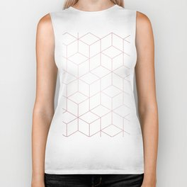 Simply Cubic in Rose Gold Sunset Biker Tank