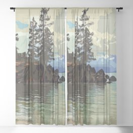Lake Tahoe Sheer Curtain
