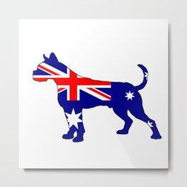 Australian Flag - Boxer Metal Print
