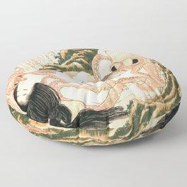Katsushika Hokusai's Dream of the Fisherman's Wife. Floor Pillow