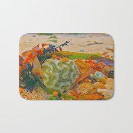 Coral on Beach Bath Mat