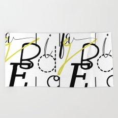 Fun Typography Beach Towel