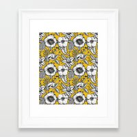yellow pattern Framed Art Prints featuring Yellow by AITCH