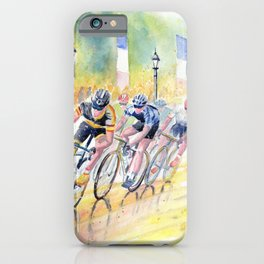 Colorful Bike Race Art iPhone Case