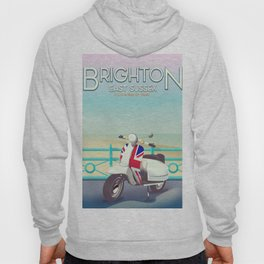 Brighton Union Scooter travel poster, Hoody