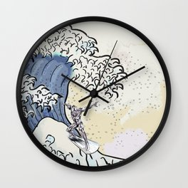 Great Wave - Silver Surfer Wall Clock