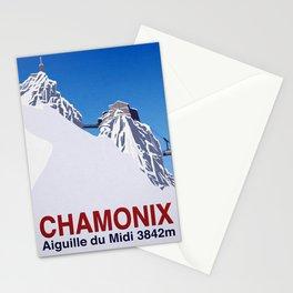 Chamonix ski Stationery Cards