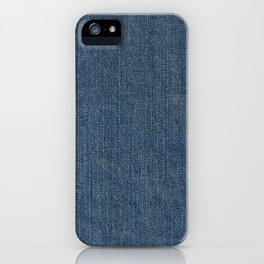 Blue Denim Texture iPhone Case