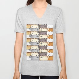 Sweet Little Fluff Balls Unisex V-Neck