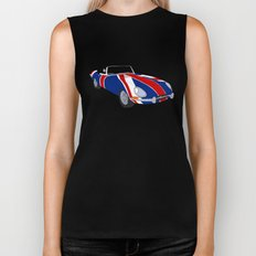 Shaguar (on White) Biker Tank