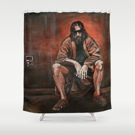 """The Dude, """"You pissed on my rug!"""" Shower Curtain"""