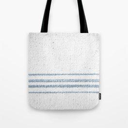 Vintage Farmhouse Grain Sack Soft Blue Stripes  Tote Bag