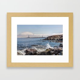 Twin Lights Landscape 2596 Framed Art Print