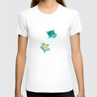 turtles T-shirts featuring Space Turtles by Maike Vierkant