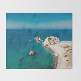 The birthplace of Aphrodite Throw Blanket