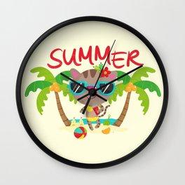 Hello, summer Wall Clock