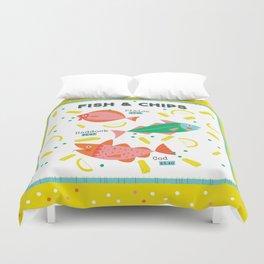 Fish & Chips Duvet Cover