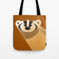 badger Tote Bags featuring badger by Thomas