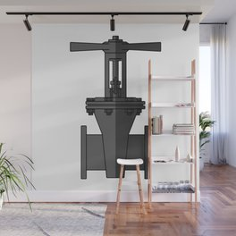Gate valve in beautiful design Fashion Modern Style Wall Mural