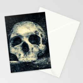 Old Skull - Memento Halloween Stationery Cards
