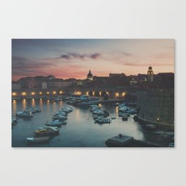 red sky at night ... Canvas Print