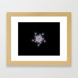 Barley twist fractal Framed Art Print