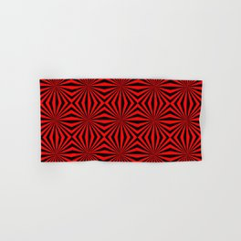 Red Abstract Modern Pattern Art Design Hand & Bath Towel