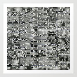 Knowing Wink (P/D3 Glitch Collage Studies) Art Print