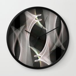 Abstract symmetry in flow of silence Wall Clock