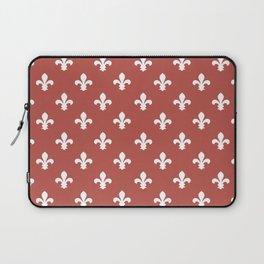 Watermelon Red Southern Cottage Fleur de Lys Laptop Sleeve