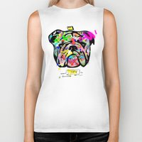 bulldog Biker Tanks featuring Bulldog by morganPASLIER
