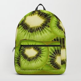 TROPICAL GREEN KIWI SLICED FRUIT MODERN ART Backpack