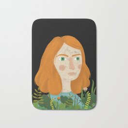 A girl and her plants Bath Mat