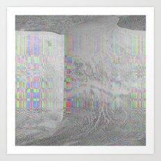 04-24-14 (Pink Cloud Bitmap Glitch) Art Print