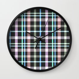 A simple checkered pattern . Wall Clock