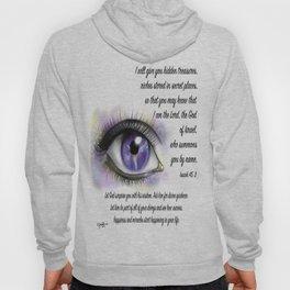 Galaxy eye - Isaiah 45, 3 Hoody