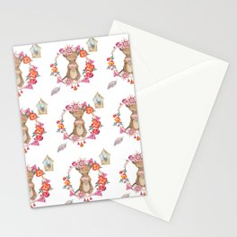 Lufkin Mouse Repeat Pattern Illustration - Bagaceous Stationery Cards