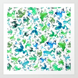 Tree Frogs Art Print