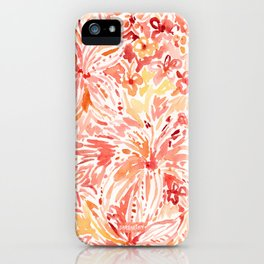 LILY LUST Peach Painterly Floral iPhone Case